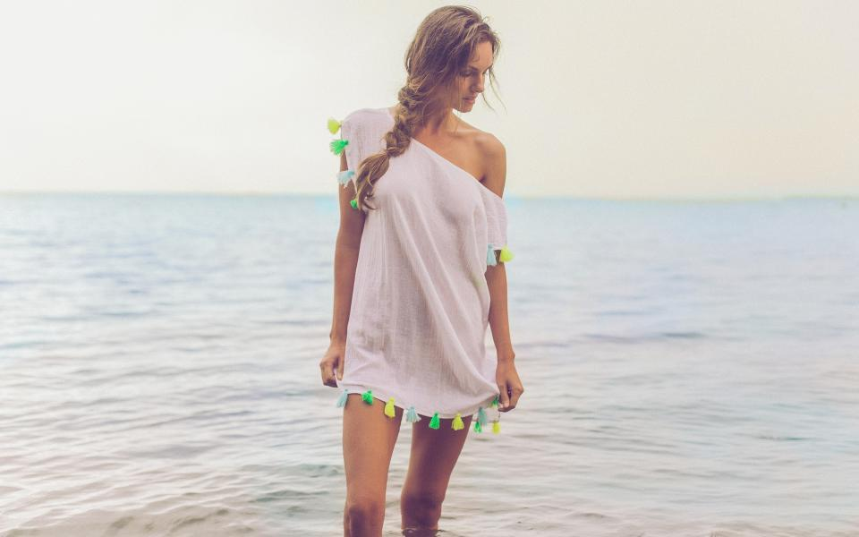 cute summer coverup with tassels
