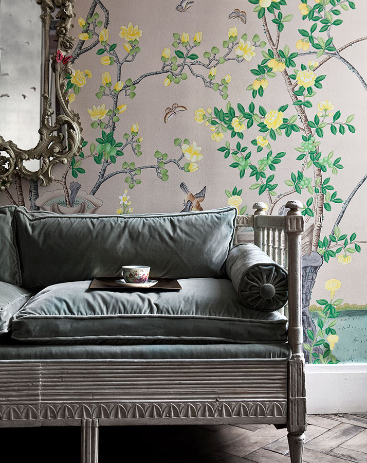 da grounay 'Jardinieres Citrus Trees' wallpaper