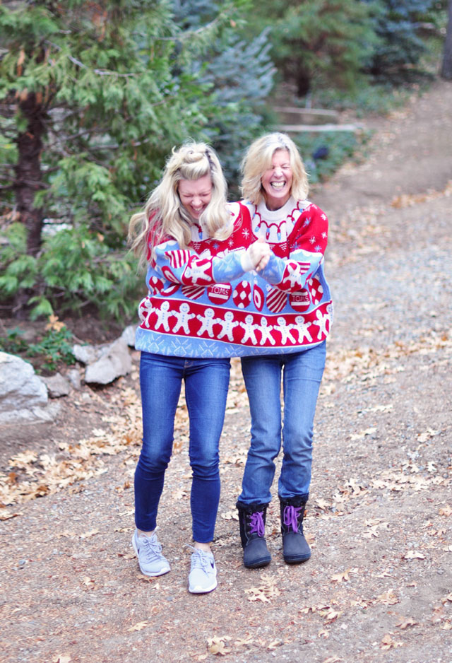 dancing and laughing in together sweater TOMS for Target