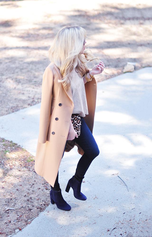 dark jeans_ ankle boots_camel coat_leopard bag