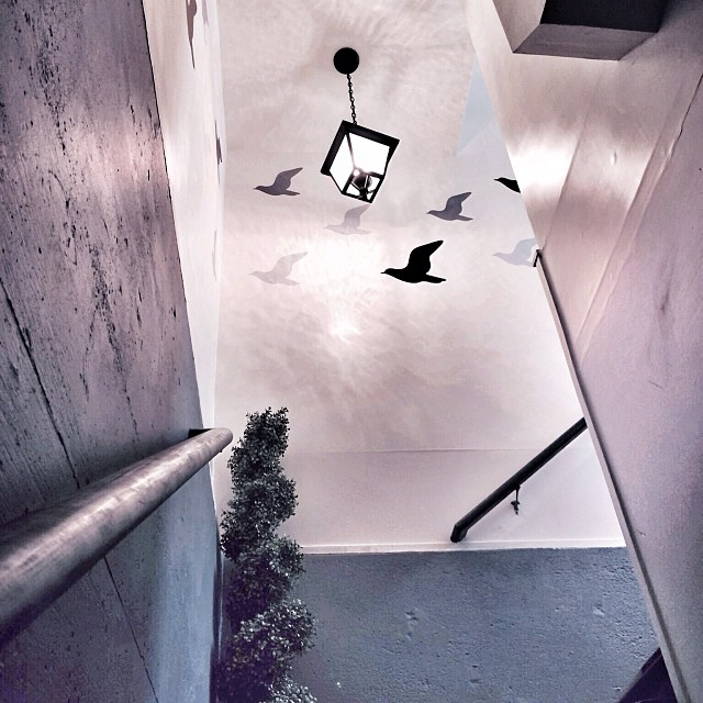 decorated stairwell