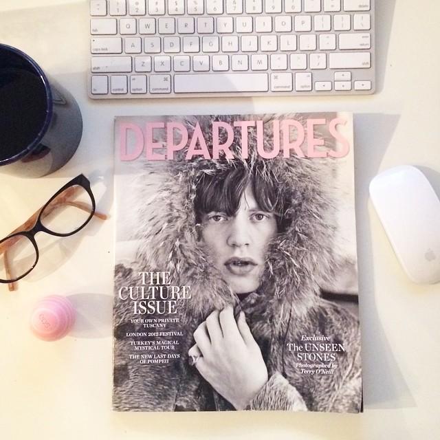 departures mag mick jagger 2012