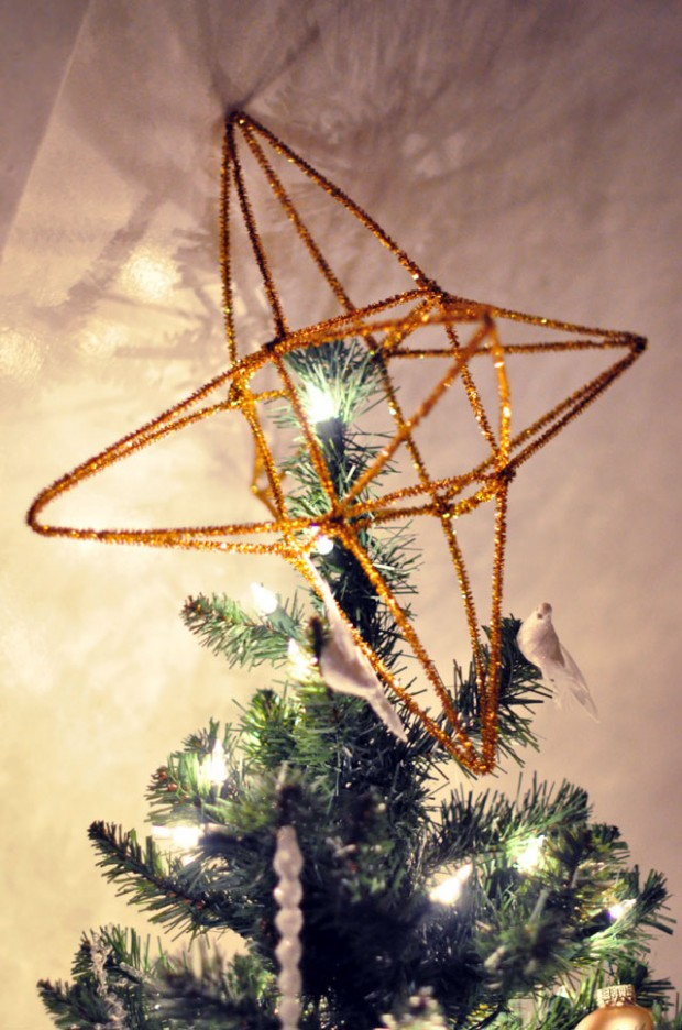 diy 3D Christmas Tree Star Topper