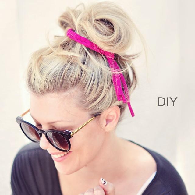 diy braided hair tie