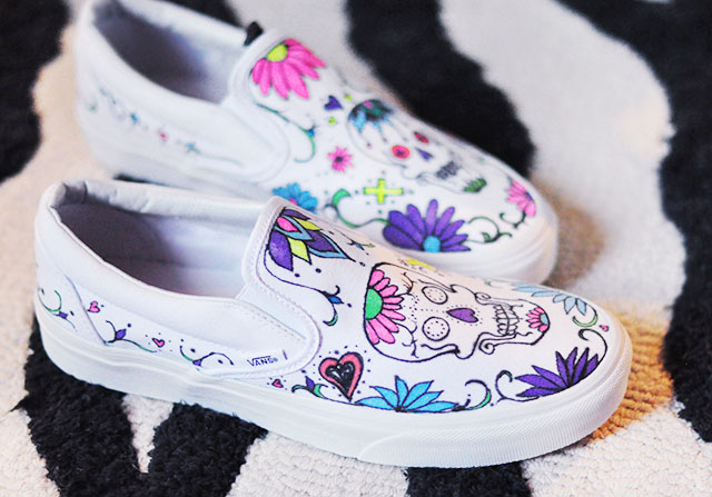 diy day of the dead custom vans