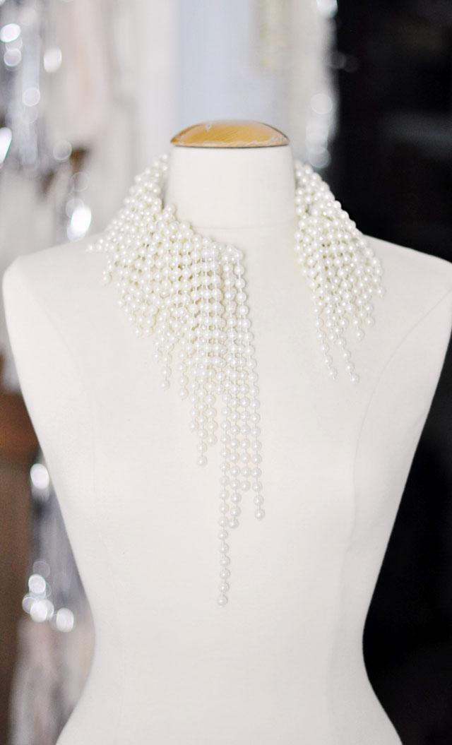 diy dior pearl necklace asymmetrical necklace