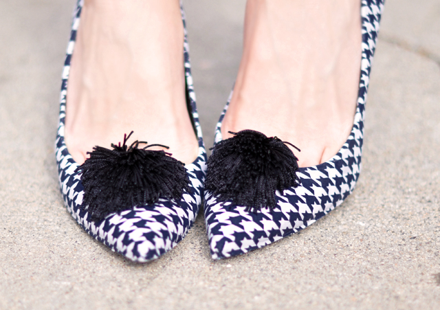 diy fabric covered pumps_houndstooth shoes