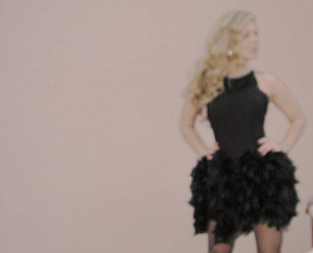 diy feather dress-