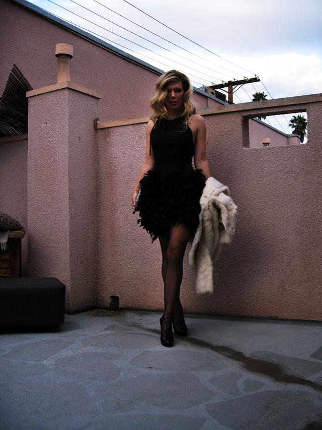diy feather dress-1