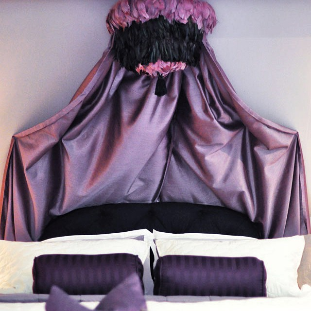 diy feather pendant and bed canopy