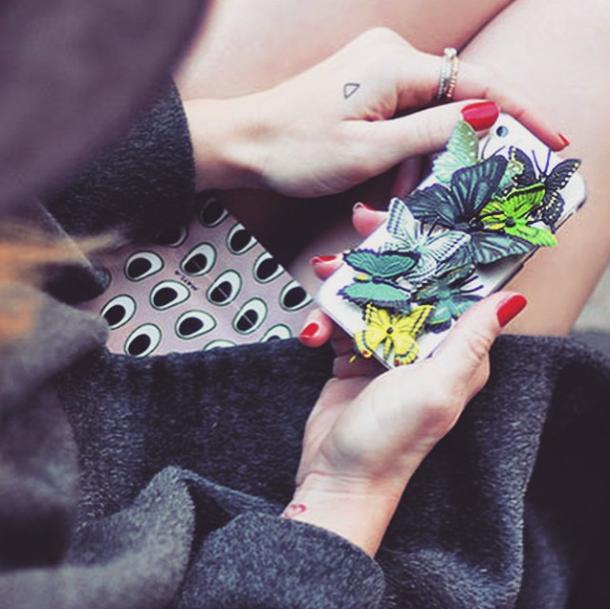 diy iphone case_butterflies