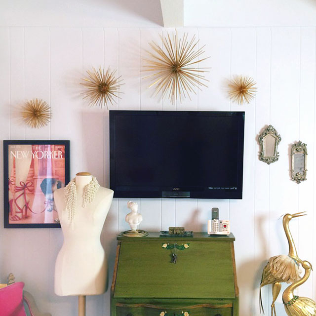 diy sea urchins-wall art-office