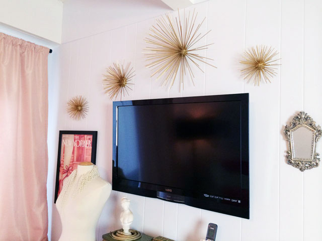 diy wall art-starbursts-sea urchins