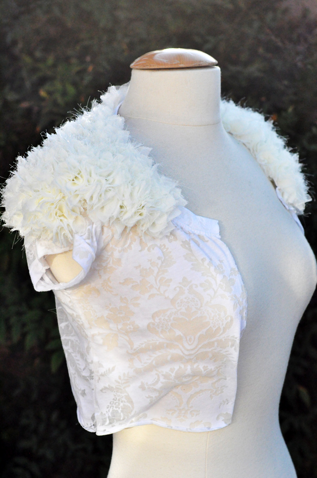 DIY Wedding Shrug from a T-shirt {unfinished}