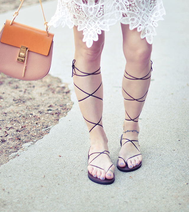 easy diy lace up gladiator sandals