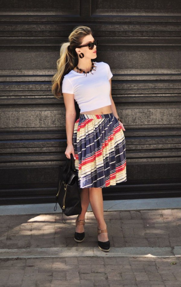 crop top and skirt for spring