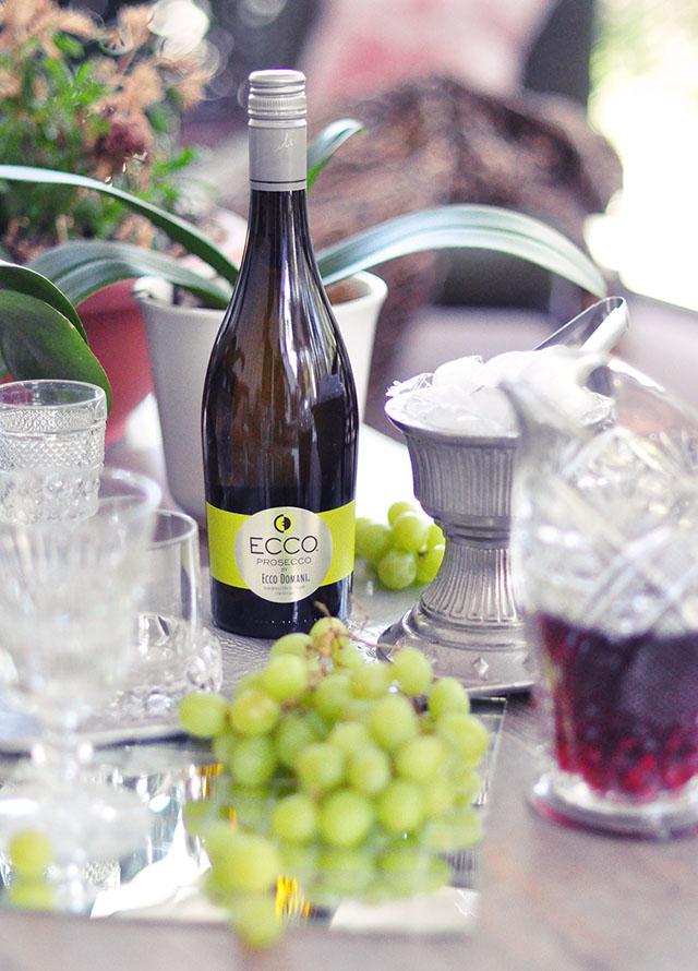 ecco domani wine - prosecco with juice