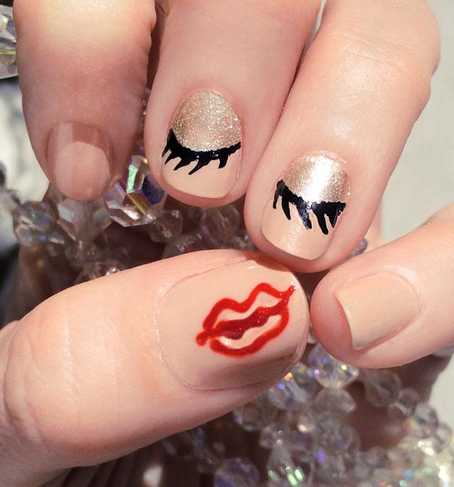 eyes and lips nails