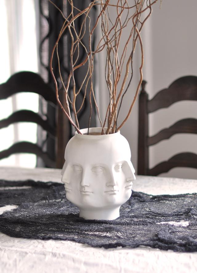 face vase-halloween tabletop centerpiece