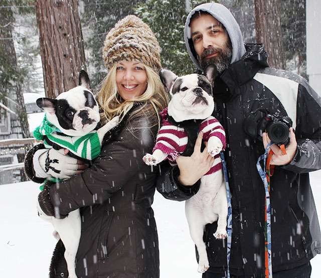 family snow shot
