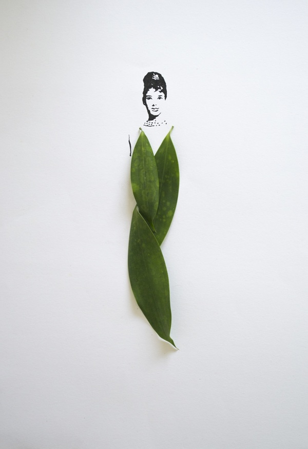 fashion illustrations with leaves 3