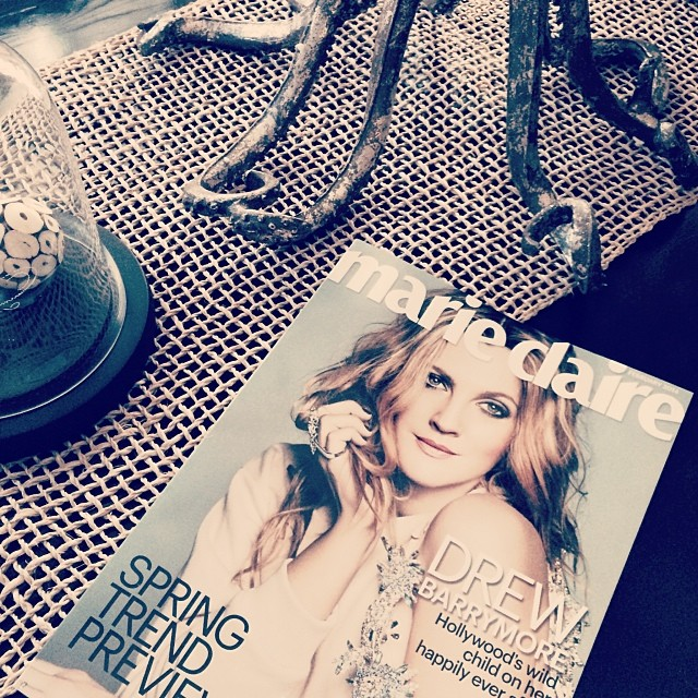 feb marie claire mag drew barrymore