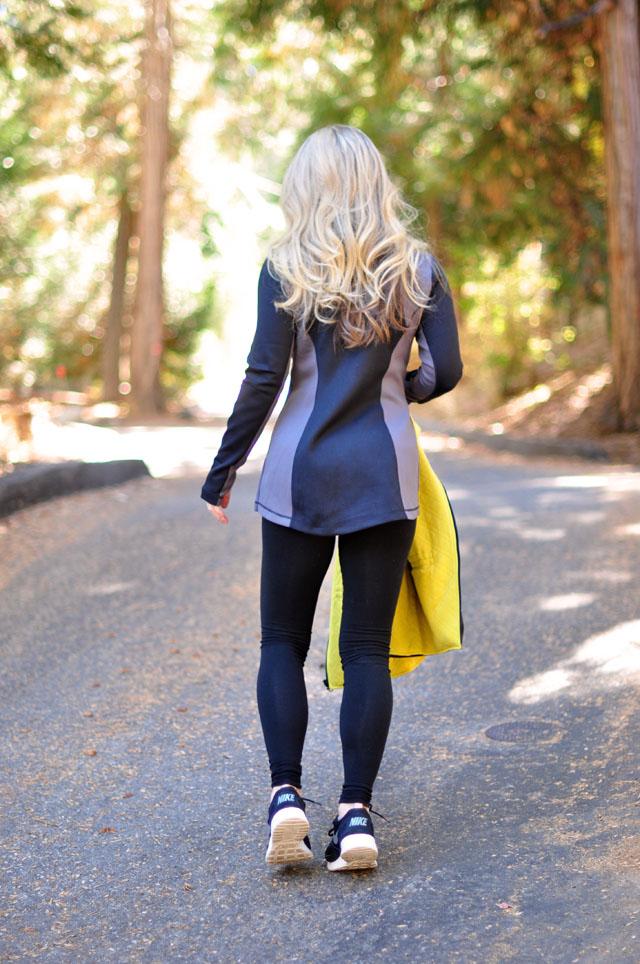 flattering workout long sleeve zipper top