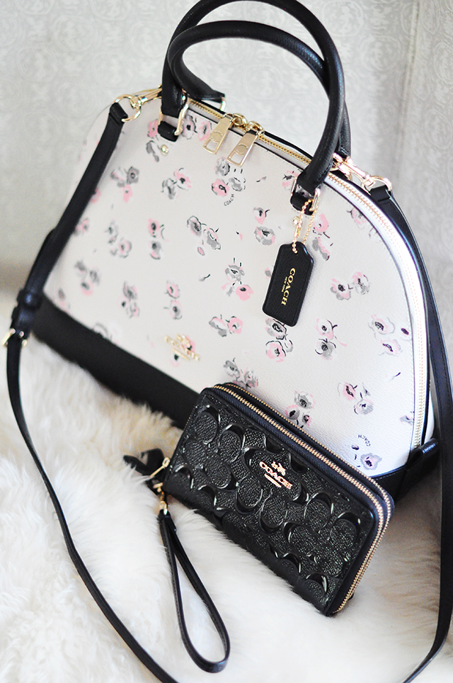 floral dome bag and wallet by Coach