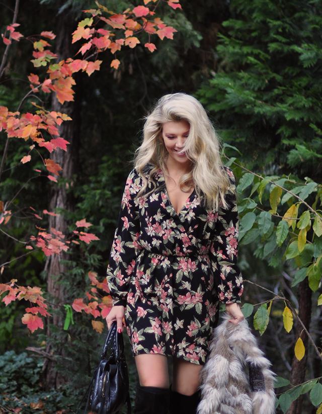 floral-dress_fall-foliage_fur-vest