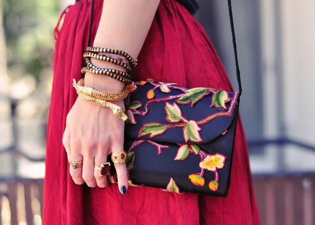 floral embroidered bag diy