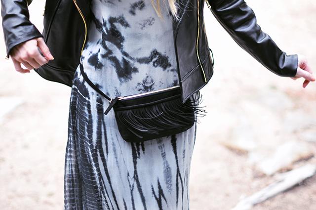 fringe hip bag_tie dye dress