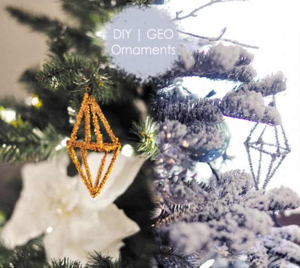 geo metallic pipe cleaner ornament 3 DIY