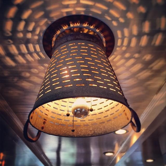 grape basket ceiling lamp