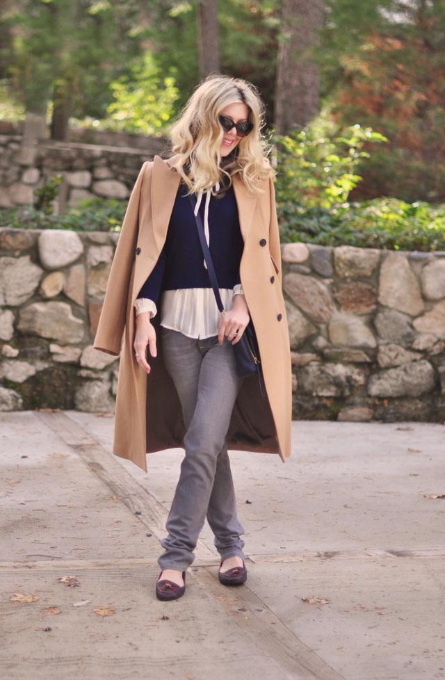 gray jeans-camel coat-phillip lim bag