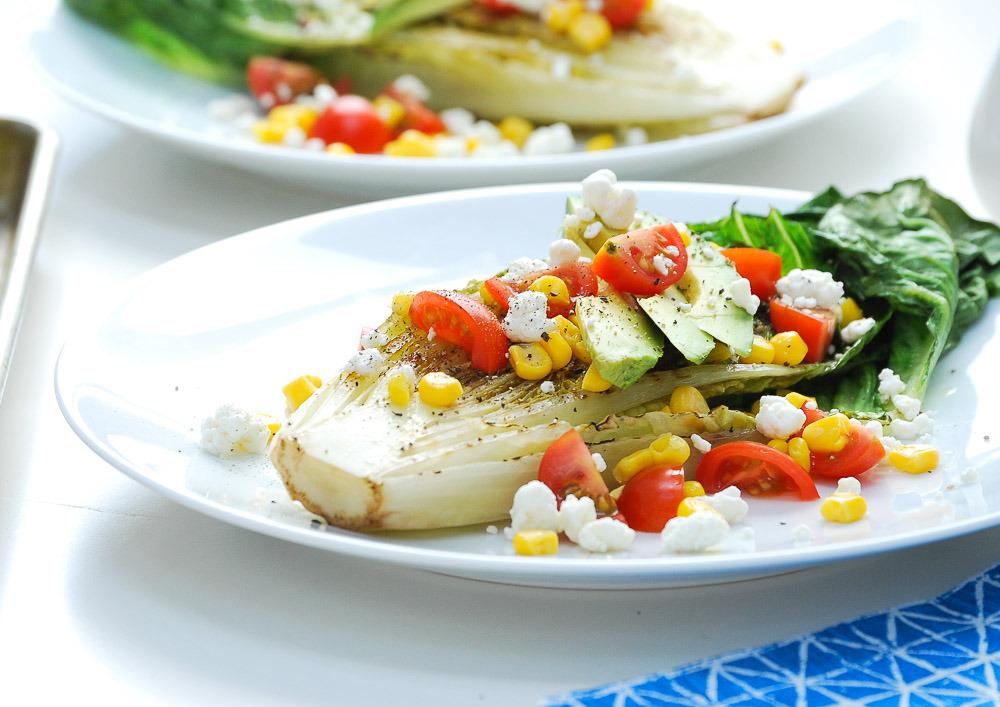grilled romaine salad recipe