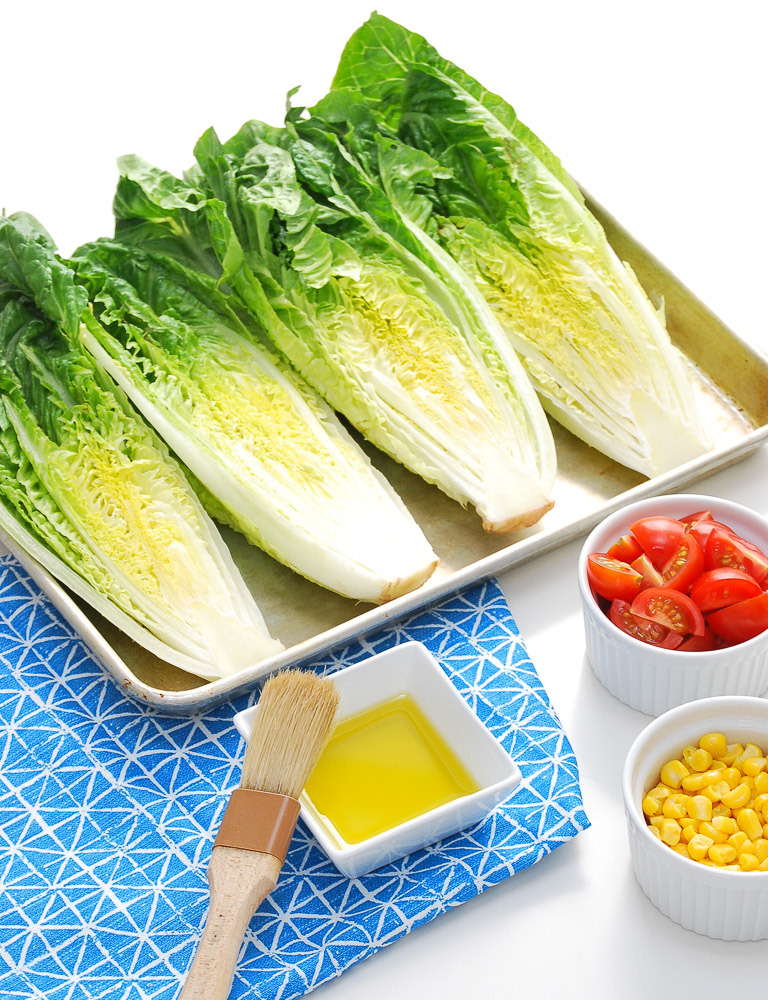 how to grill romaine lettuce + salad recipe