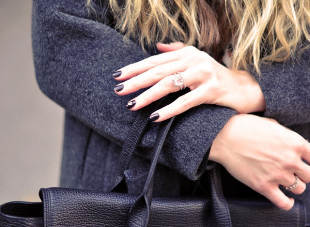 halloween nails -wedding ring