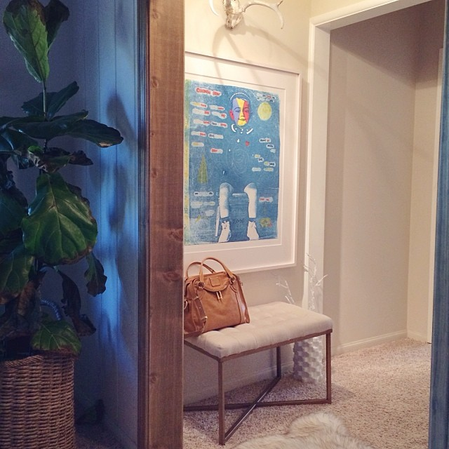 hallway art bench