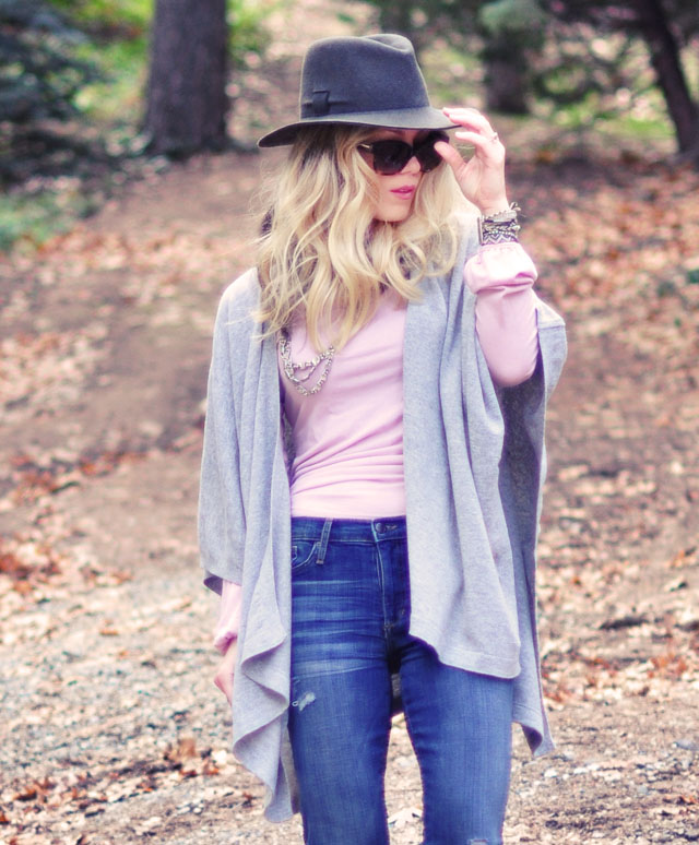 hat and poncho-jeans
