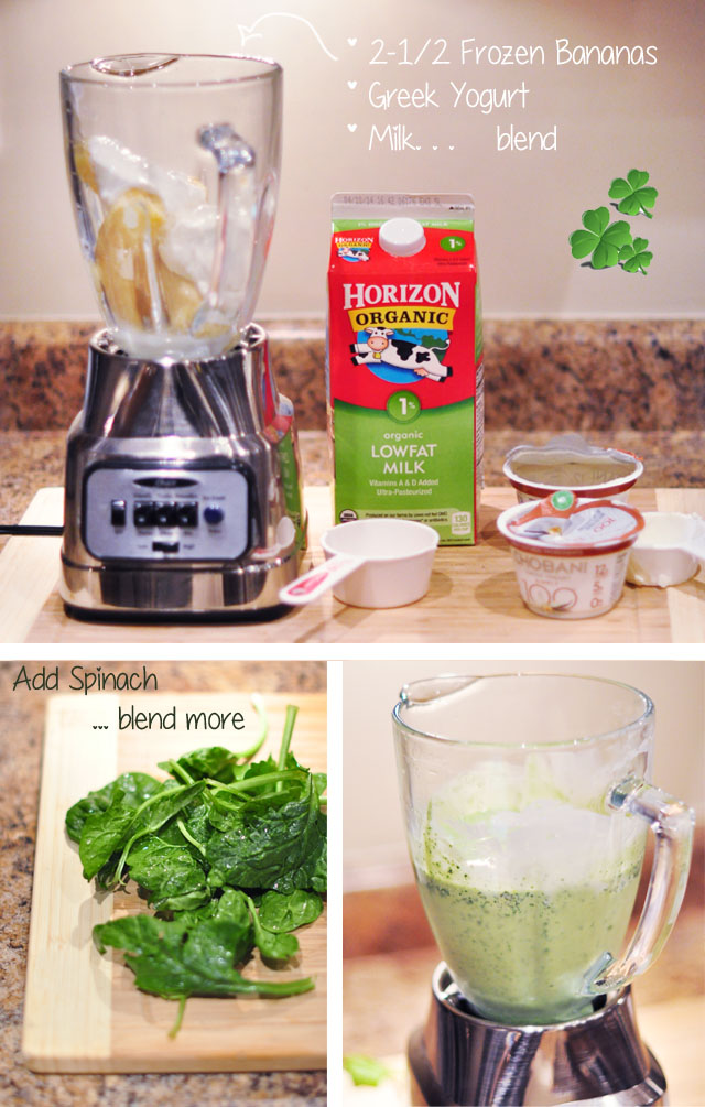 healthy fresh shamrock shake