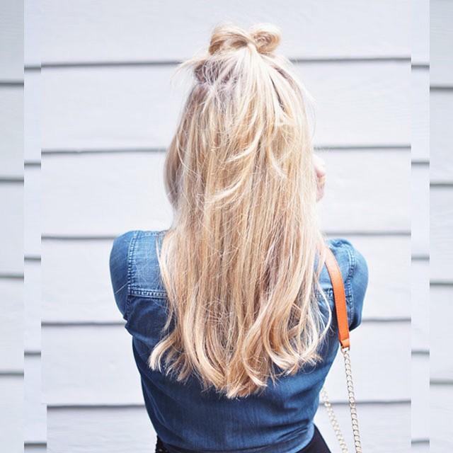 high bow top half hair knot