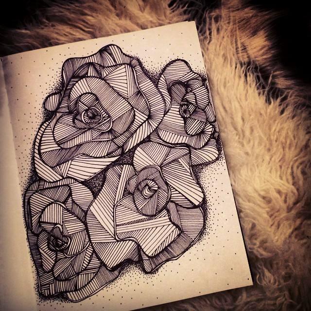 ink line drawing-doodle-art