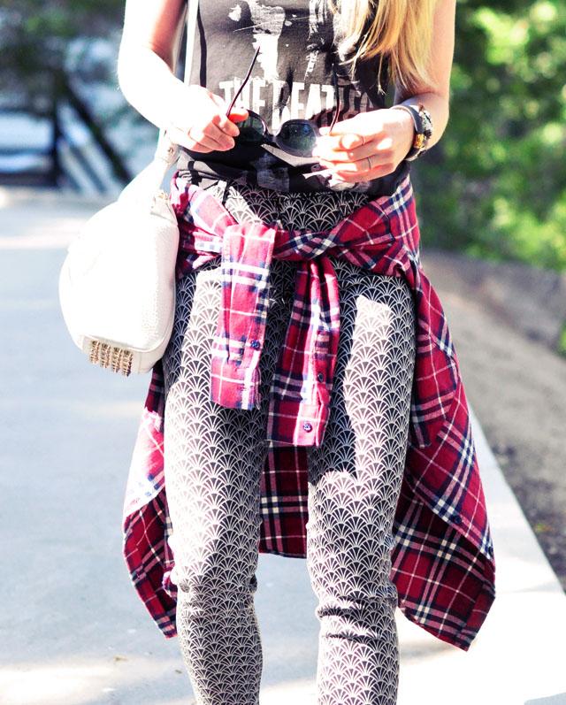 jeans-plaid flannel - alexander wang bag