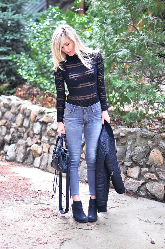 lace bodysuit_grey jeans_boots