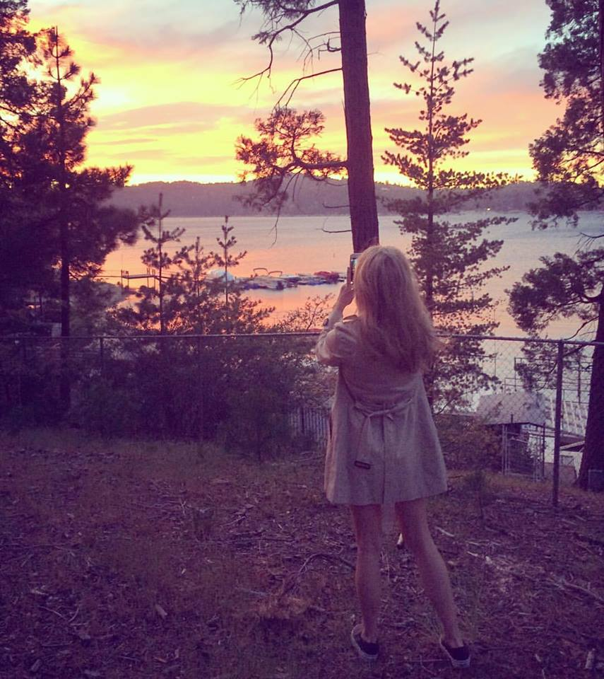 lake arrowhead_sunset on the lake