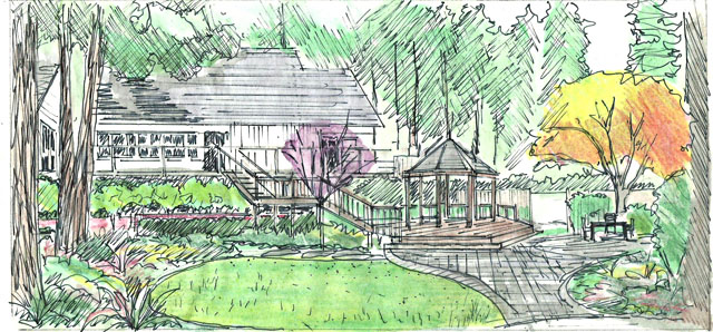 landscape preliminary sketch