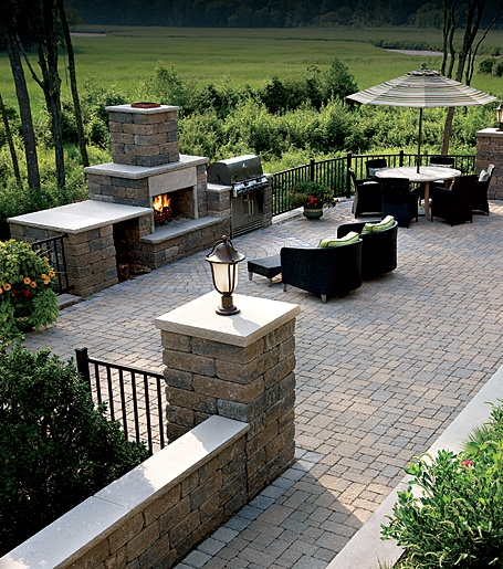 landscaping - patio decks with stone and brick