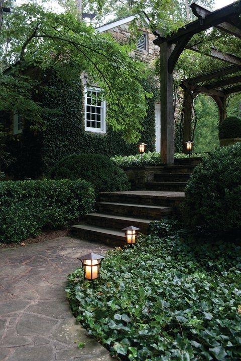 landscaping - stone walkways lush gardens