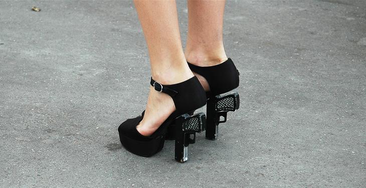 chanel gun shoes