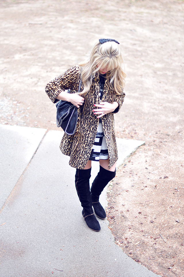 leopard coat_stella mccartney chain bag_free people boots